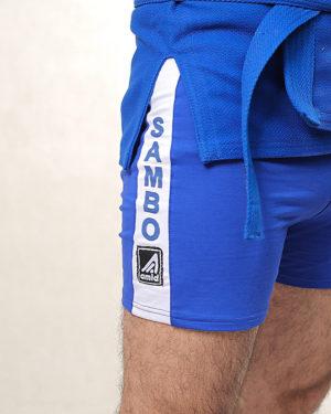 шорты синие для самбо