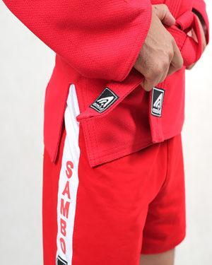 шорты для самбо красные