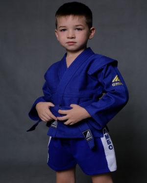 куртка синяя для самбо 450
