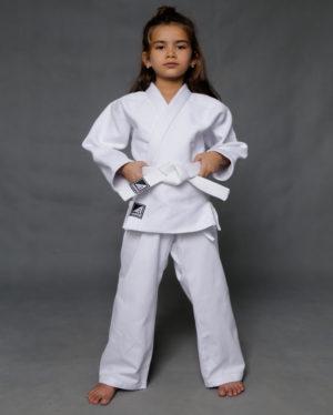 белое кимоно дзюдо 420 гр/м2