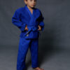 синее кимоно для дзюдо 420 гр/м2