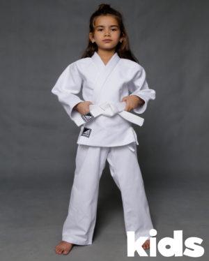 белое кимоно для дзюдо 250 гр/м2