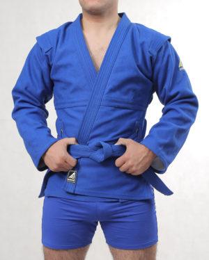 синяя куртка для самбо стандарт